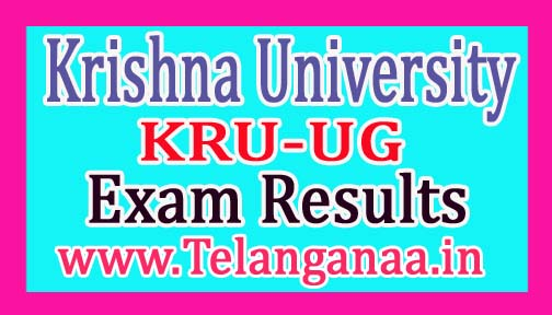 Krishna University KRU UG 3rd Sem Exam Results 2018