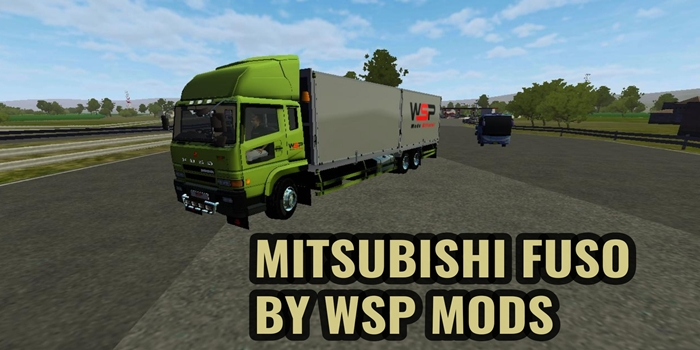Download MOD Truck Mitsubishi Fuso BUSSID By WSP Mods
