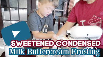 thumbnail for youtube video where Little Dude and I make the frosting