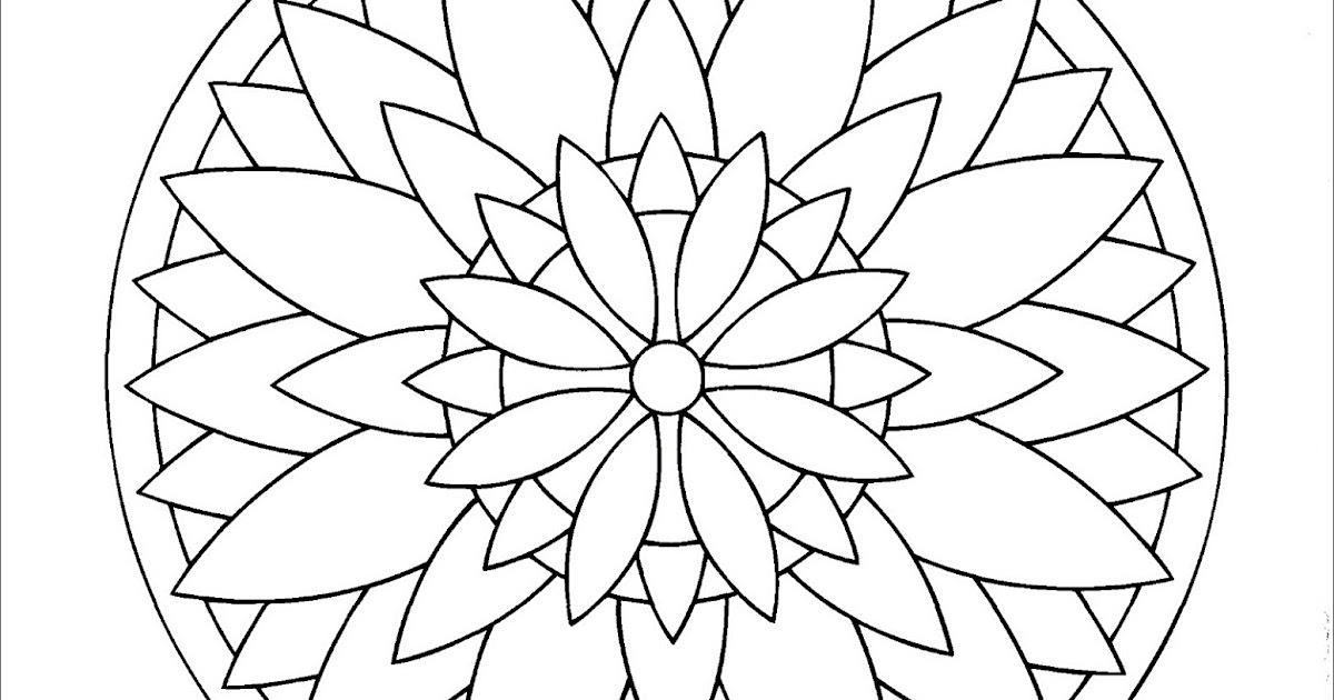 Einfache Mandalas Malvorlagen für Kinder PDF   Free Mandala