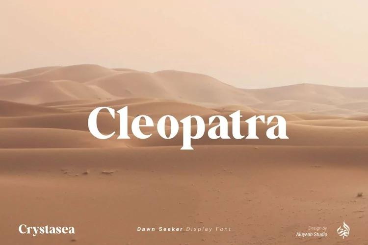 Crystasea Font - Bold Serif Typeface