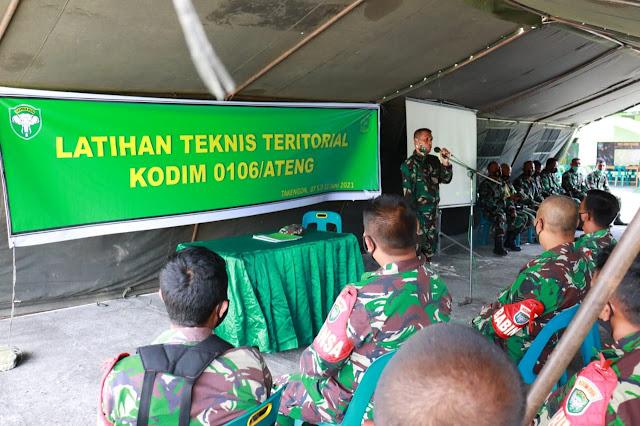 Dandim 0106/Ateng Buka Kegiatan Latnister Tahun 2021