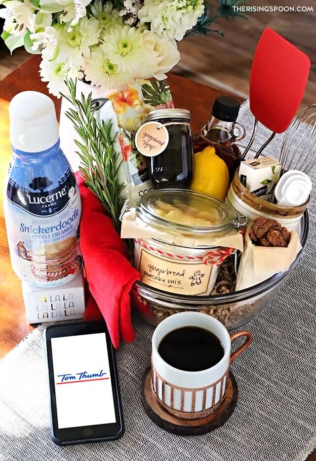 DIY Breakfast Gift Basket with Gingerbread Pancake Mix