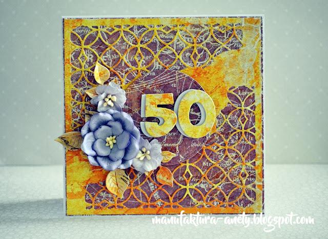 efektowna kartka z okazji 50.urodzin