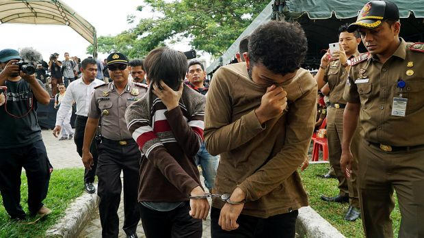 Indonesian Men Caned For Gay Sex In Aceh Indonesia Steps -9612