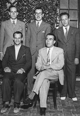 Cinco catalanes en la Semifinal del Campeonato de España 1935: Ribera, Cherta, Plácido Soler, Casas y Comas