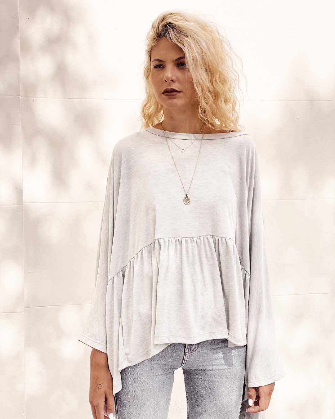 remeron remera blusa de algodon invierno 2021 moda mujer