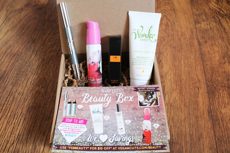Vegan Cuts Beauty Box - February 2016 review