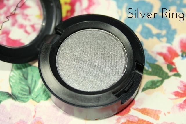 MAC Eyeshadows in Satin Taupe, Goldbit & Silver Ring