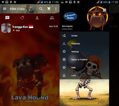 BBM Mod Lava Hound Breaker v2.13.1.14 Apk Gratis