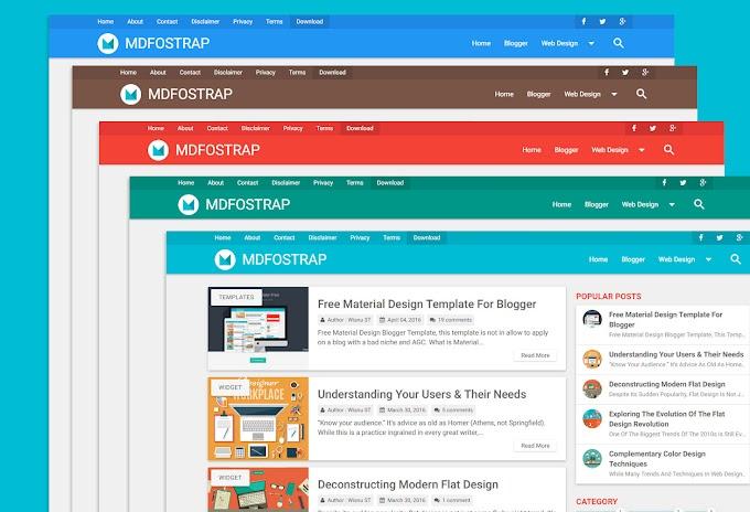 MD Fostrap Türkçe Blogger Teması