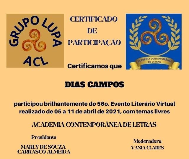 56. EVENTO LITERÁRIO VIRTUAL DA ACADEMIA CONTEMPORÂNEA DE LETRAS