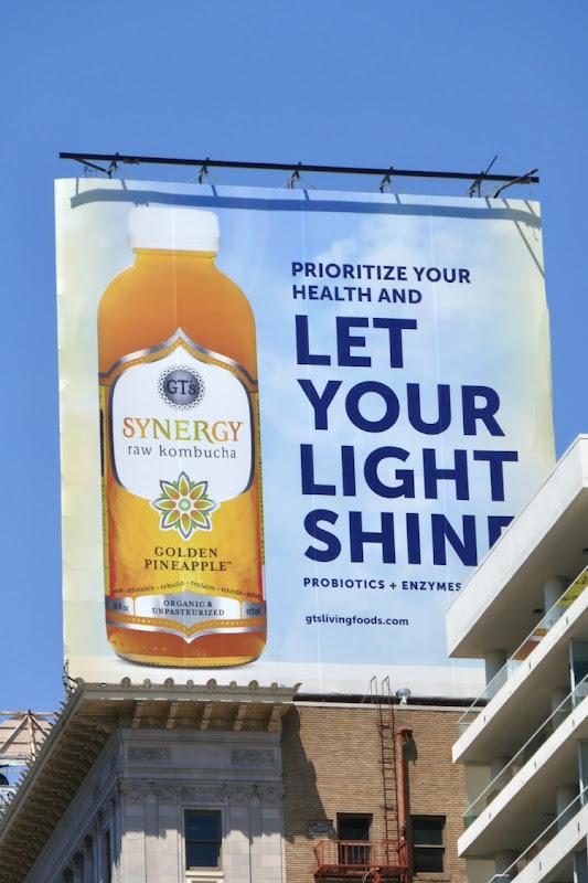 Let Your Light Shine Synergy Kombucha billboard