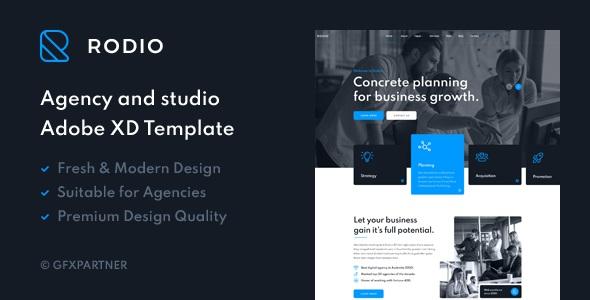 Best Agency & Studio Adobe XD Template