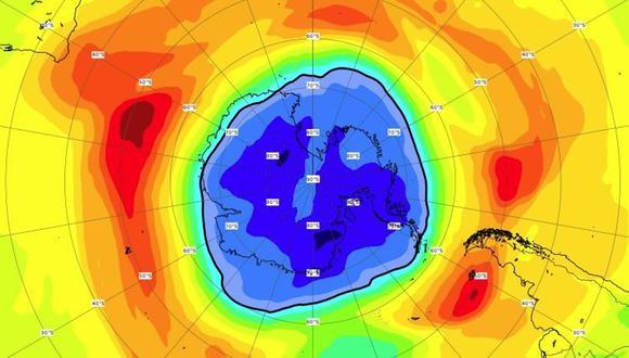 El agujero en la capa de ozono ya supera este año el tamaño de la Antártida