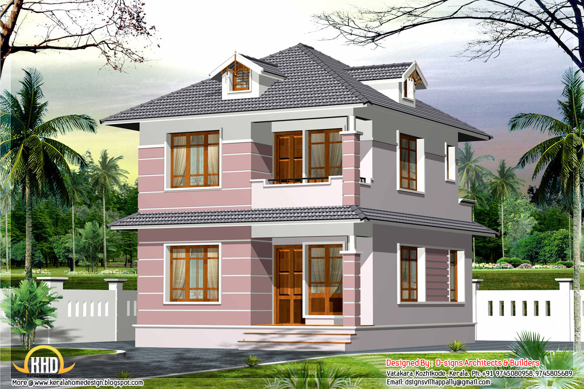 Exterior design of small house in indian home designs in for Small hot house plans