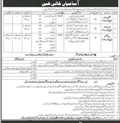 Today Jobs in Pakistan Army Civilian Jobs 2021
