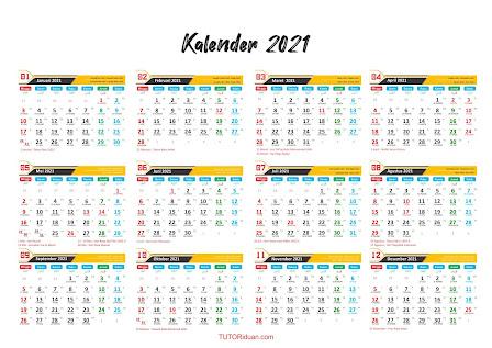 Kalender 2021 Dengan CorelDraw
