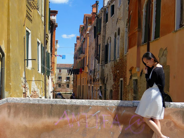 Venice Italy, solo travel, Miss Happy Feet, Vivian Lee