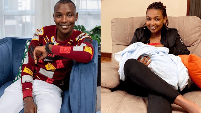 Karen Nyamu and Samido baby sitting video