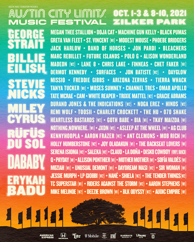 ACL Music Festival 2021 will take place across eight stages at Zilker Park, October 1-3 and October 8-10