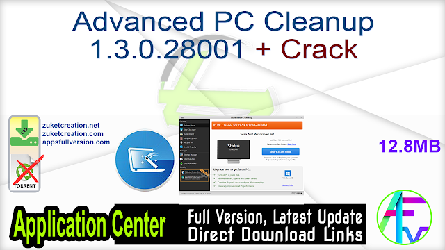 Advanced PC Cleanup 1.3.0.28001 + Crack