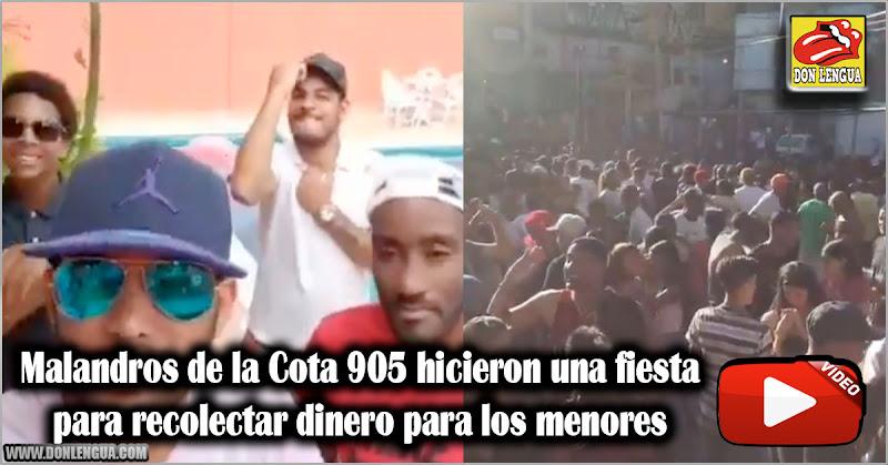 Malandros de la Cota 905 hicieron una fiesta para recolectar dinero para los menores