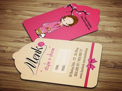 In thẻ bài, thẻ treo, nhãn mác quần áo, price tag đẹp, giá rẻ tại Hà Nội Menk