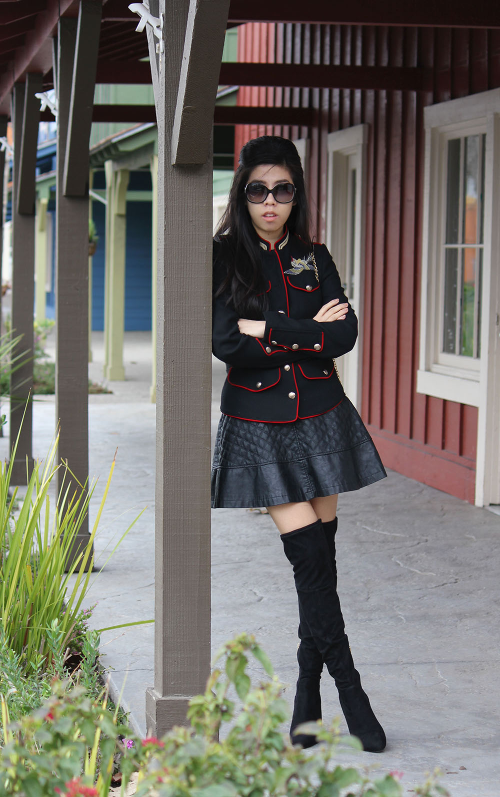 Embroidered Jacket _What to wear with an Embroidered Blaxzr_Military Jacket_Adrienne Nguyen