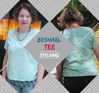 Creates Sew Slow: Style Arc Besharl Isle of Wight Pocho Tee
