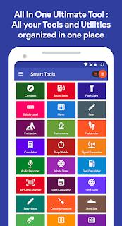 تحميل تطبيق Smart Tools Compass,Calculator,Ruler,BarCode 1.1.48.apk