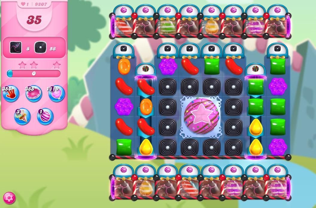 Candy Crush Saga level 9207