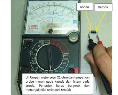 Cara Mengukur dan Menguji Komponen Dioda penyearah