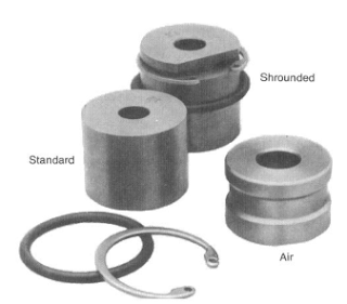 Shrouded and standard nozzles Roller cone bit