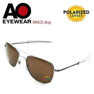 AO Original Pilot Aviator Sunglasses (57mm Matt, Polarized Cosmetan® Brown)