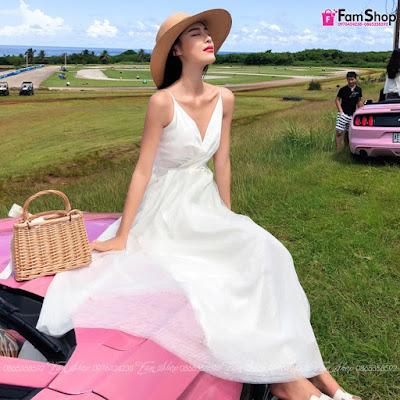 Váy maxi đi biển V433