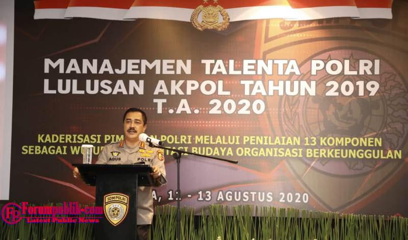 """Kabaharkam Polri Narasumber Pada Kegiatan """"Manajemen Talenta Polri"""" yang Diikuti Lulusan Akpol 2019"""