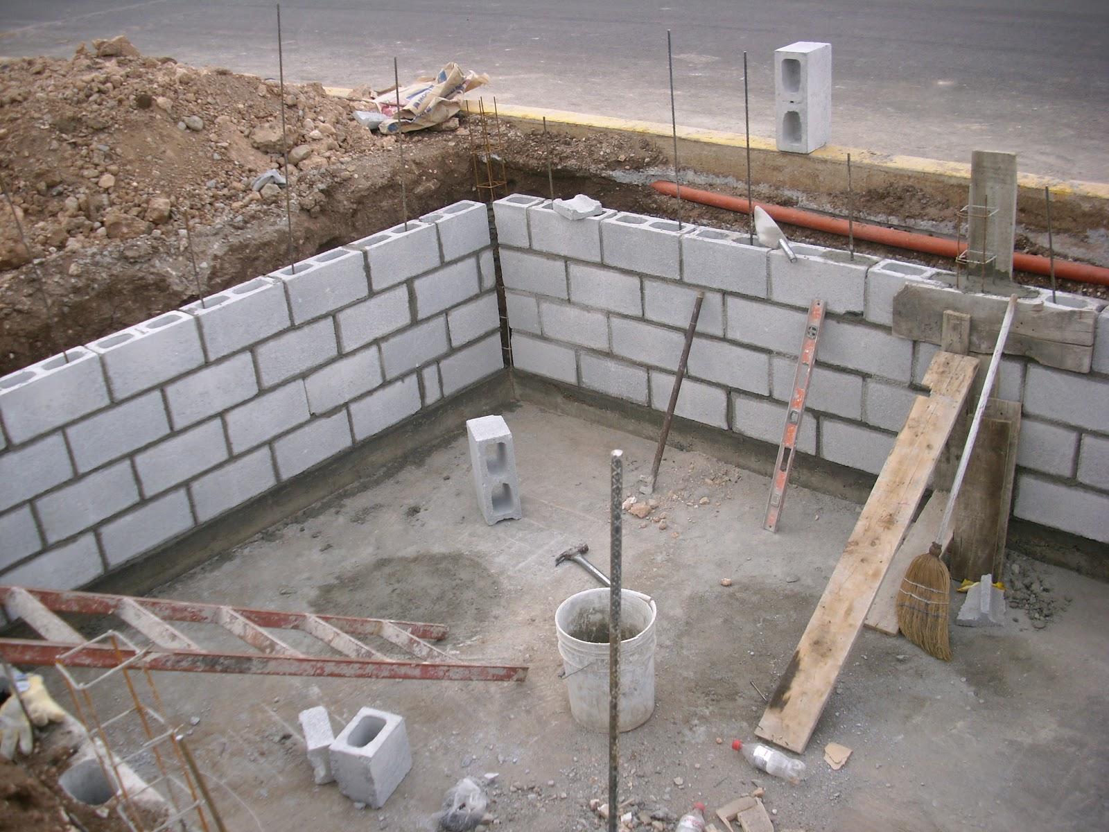 Construccion de aljibe o cisterna de concreto y armado de for Construccion de albercas economicas