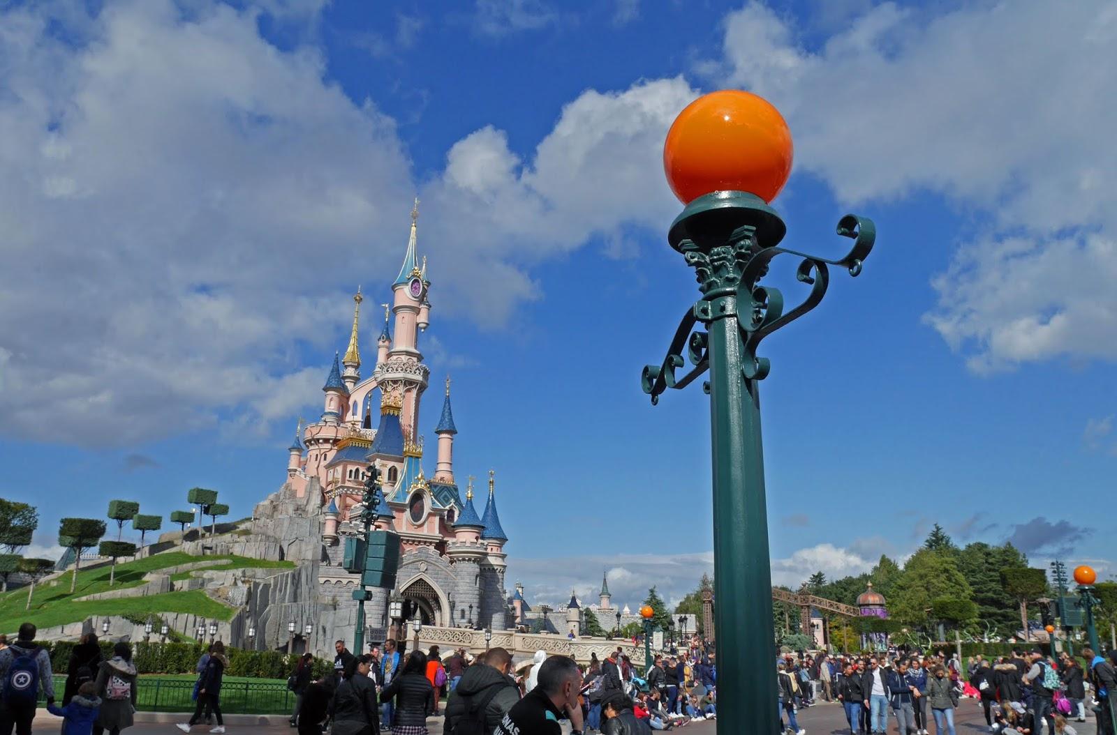 Sleeping Beauty Castle during Halloween season, Disneyland Paris