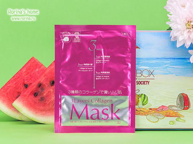 Japan Gals Тканевая маска с тремя видами коллагена Collagen mask: отзывы с фото