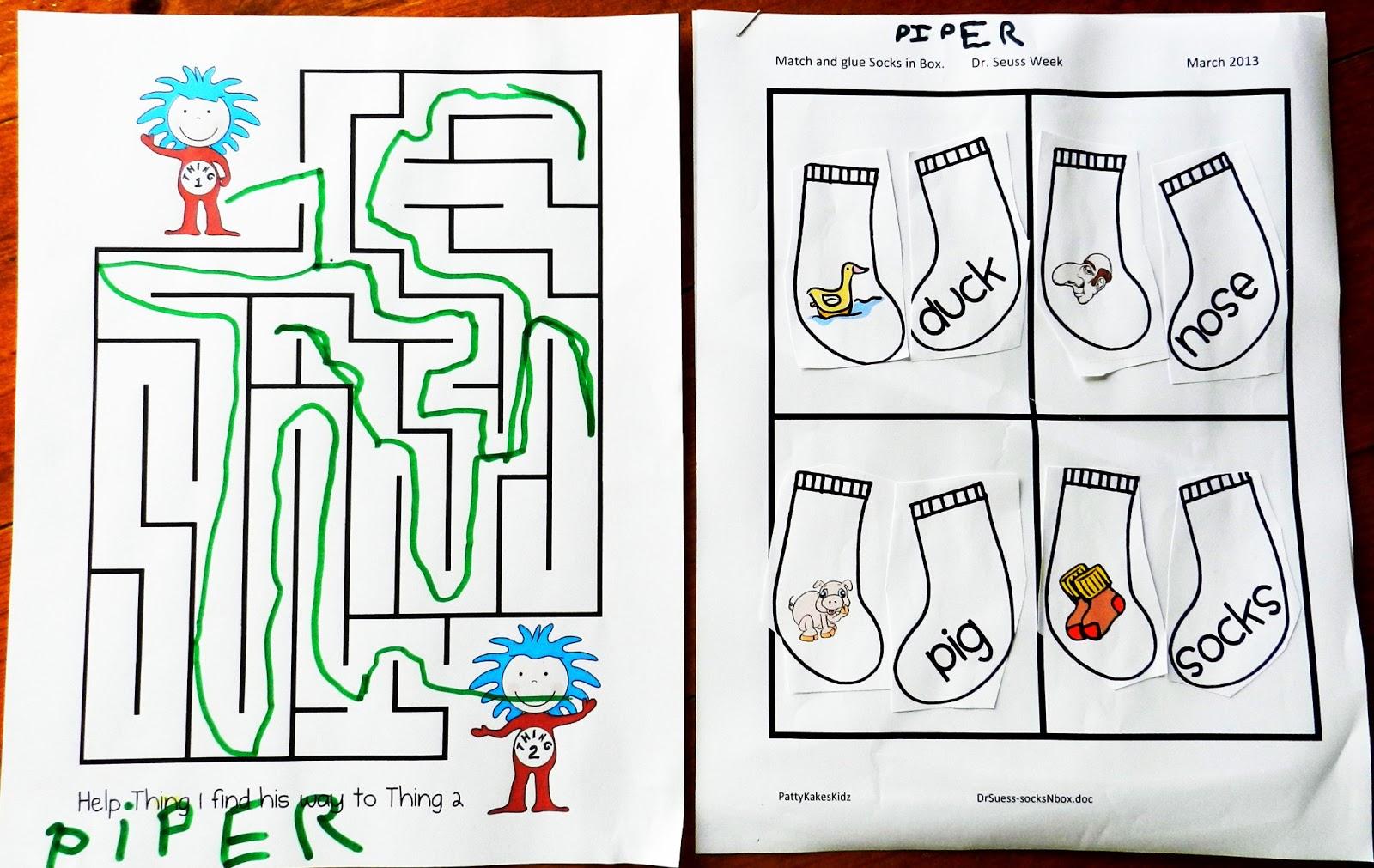 Pattykakes Kidz Preschool Happy Birthday Dr Seuss