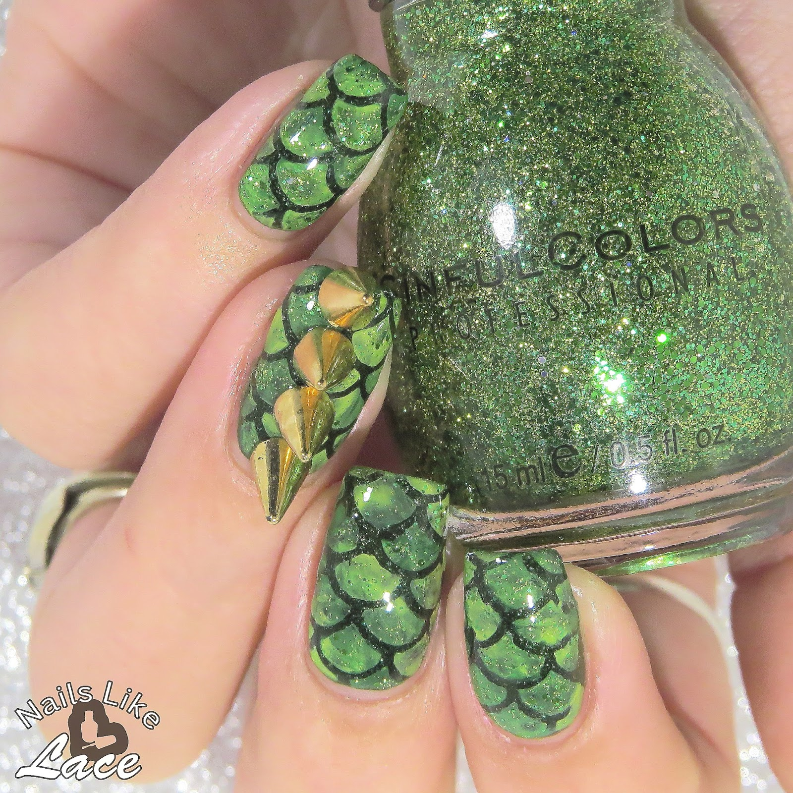 NailsLikeLace: Twinsie Tuesday: Embellishments - Dragon Scales & 3D ...