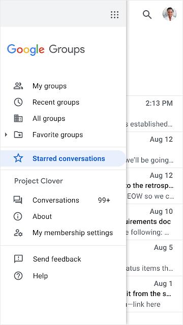 Star favorite conversations in Google Groups 1