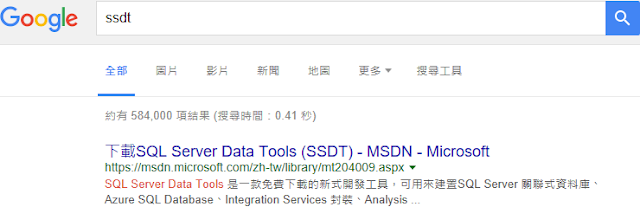 google search ssdt