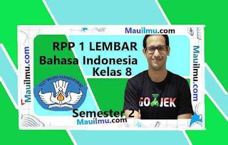 rpp-1-lembar-bahasa-indonesia-kelas-8-smp-semester-2-mauilmu