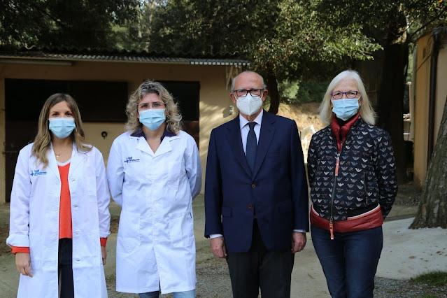 """Cabalgando la Vida"" de izquierda a derecha: Anna Saló, Anna Llort, Emilio Zegrí y Teresa Xipell."