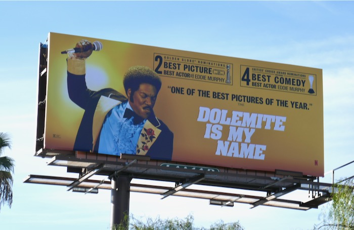 Dolemite Is My Name 2 Golden Globe billboard