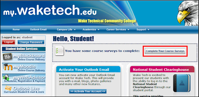 wake tech blackboard login