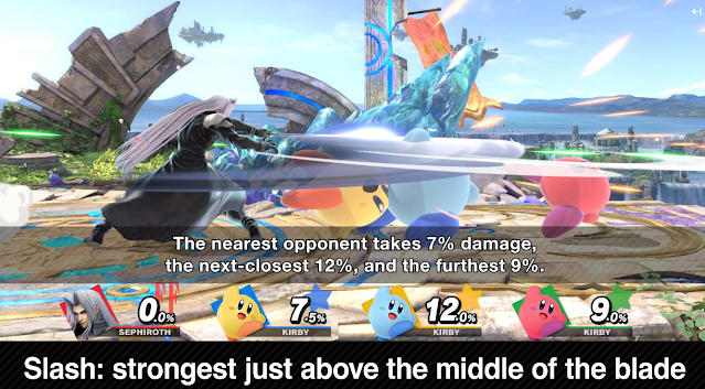 Sephiroth Super Smash Bros. Ultimate slash squad of Kirby Masamune blade