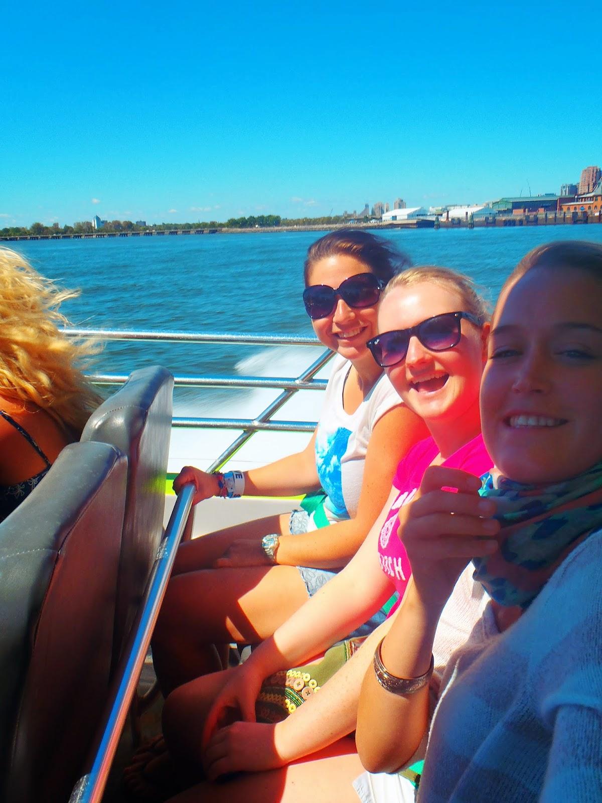 Selfie of us on the Hudson river